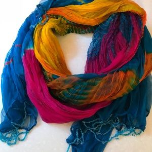 Accessories - Colorful silky scarf